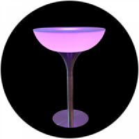 diaporama mobilier lumineux invisi Mange Debout Lumineux COCKTAIL