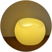 diaporama mobilier lumineux invisi Pouf Pomme